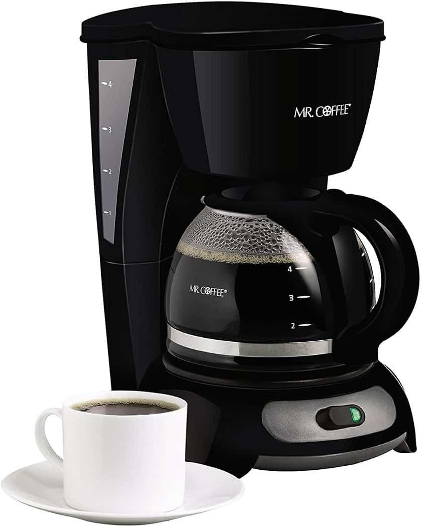 מכונת קפה קטנה 4 כוסות Mr. Coffee