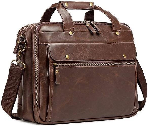 תיק עסקים מעור לגבר של מותג Saddleback Leather Co