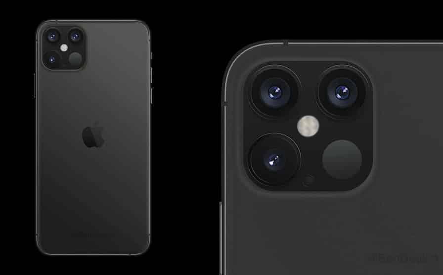 מבט מקרוב על המצלמה של אייפון 12