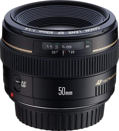 עדשת קנון 55 מילימטר דגם Canon EF 50mm f-1.4