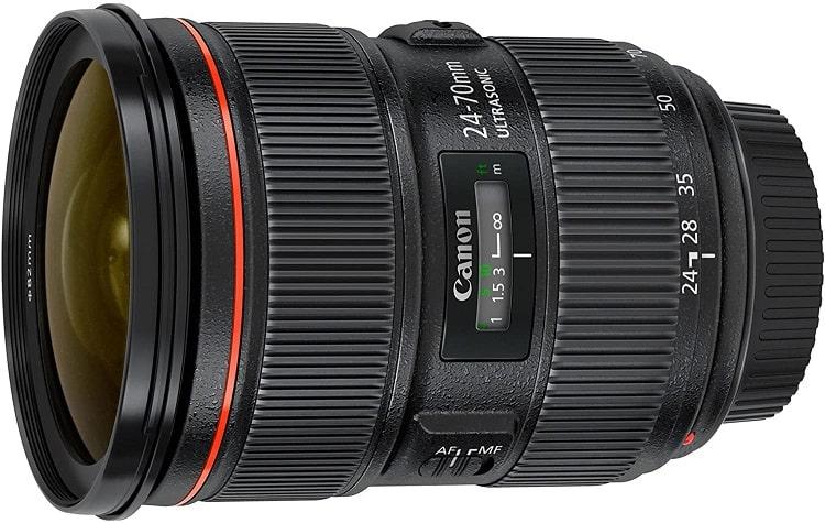 עדשת Canon לצילום נופים דגם EF 24-70mm f-2.8L II