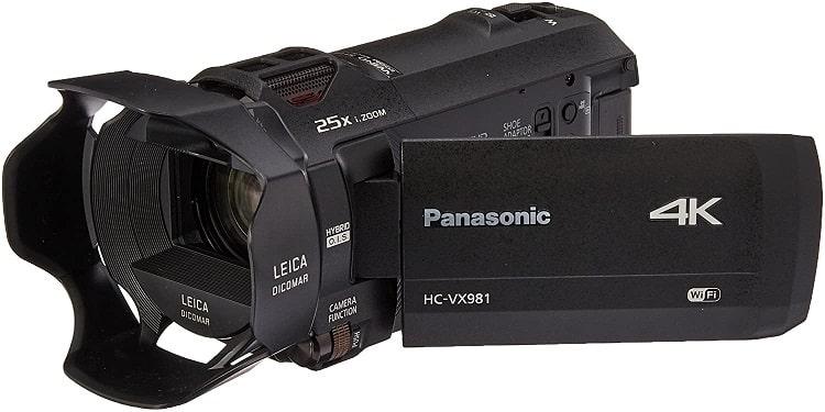 מצלמת וידאו מקצועית פנסוניק 4K HC VX981K