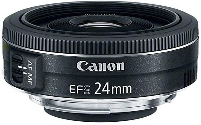 עדשה זולה של חברת Canon דגם EF-S 24mm