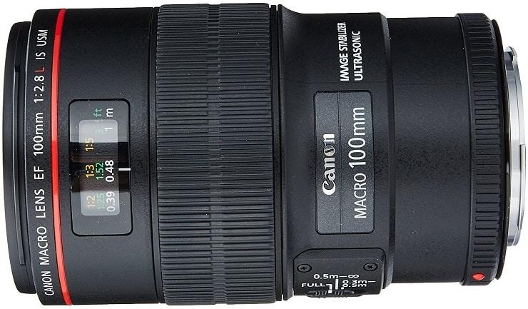 עדשה למצלמה של חברת Canon דגם EF100mm