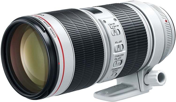 עדשה למצלמה של חברת Conon דגם EF 70-200mm