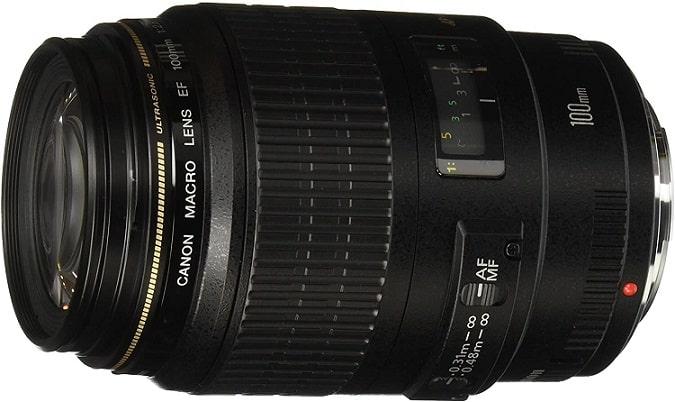 עדשת מאקרו למצלמה של חברת קנון דגם Canon EF 100mm