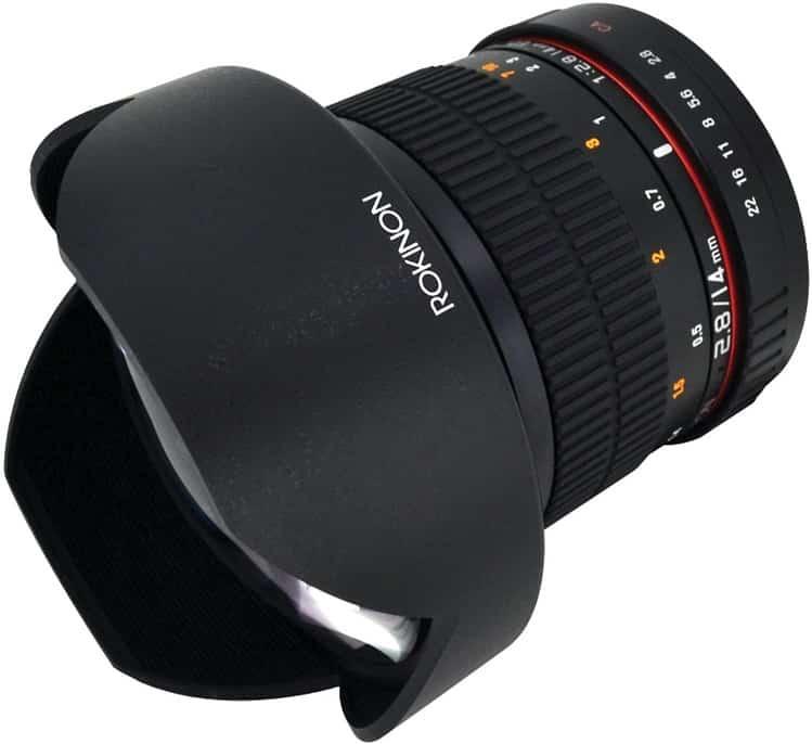 עדשת מצלמה של חברת Rokinon דגם FE14M-C 14mm