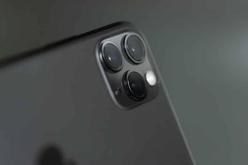תקריב למצלמה של האייפון 11 פרו