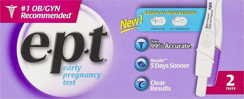 בדיקה לזיהוי הריון מוקדם של מותג EPT