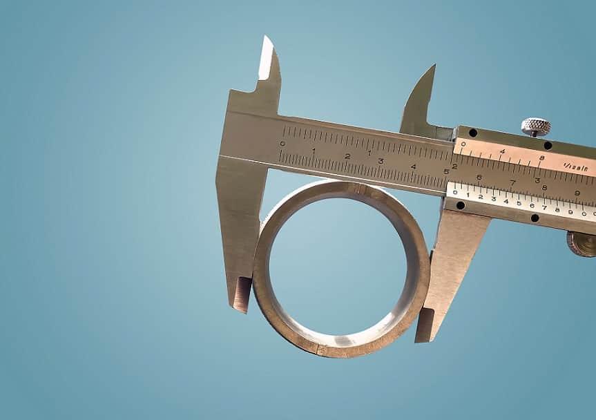 מד גודל ממתכת מודד רוחב של עיגול מברזל