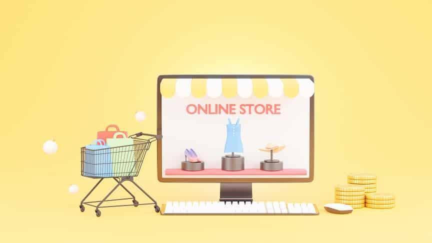 אילוסטרציה של אתר לקניות באינטרנט