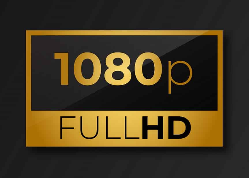 רזולוציית 1080p של FULL HD