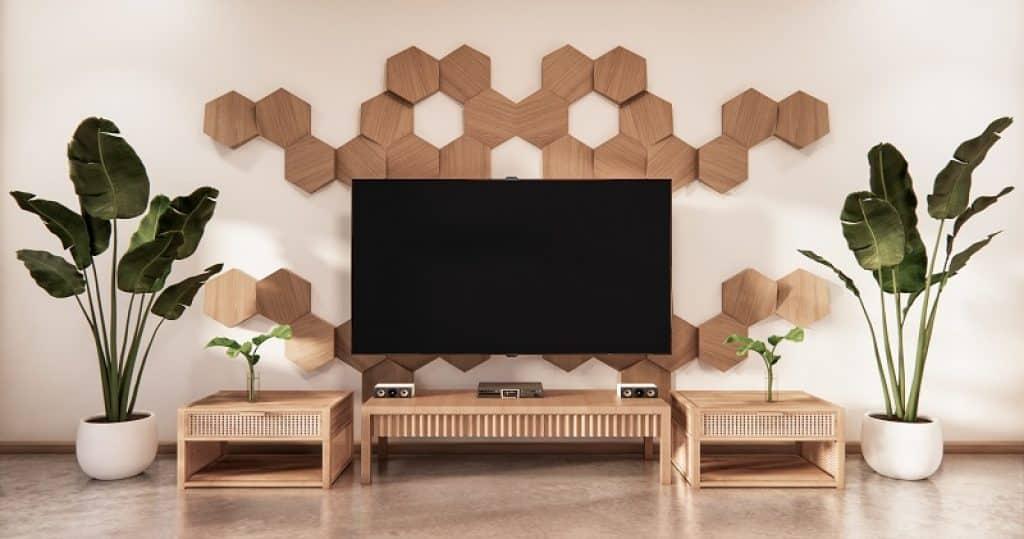 טלוויזיה 65 אינץ' בסלון מודרני