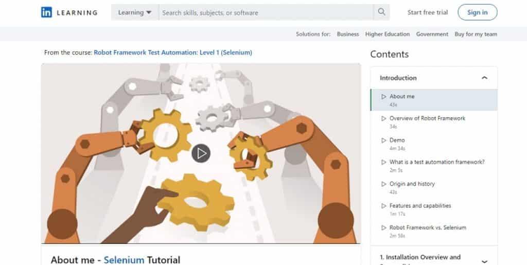מבוא לסביבת האוטומציה Robot Framework ב-LinkedIn Learning