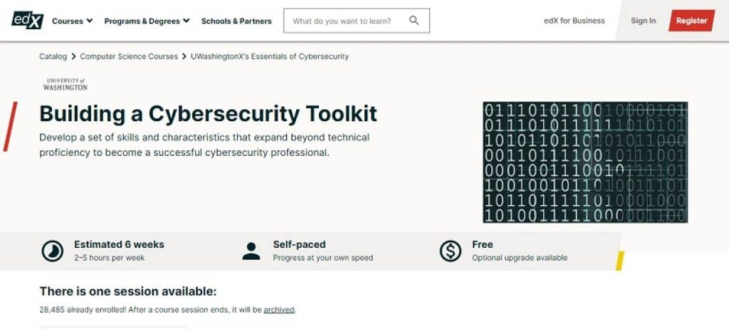 קורס ארגז כלים בתחום הסייבר ואבטחת המידע ב-edX