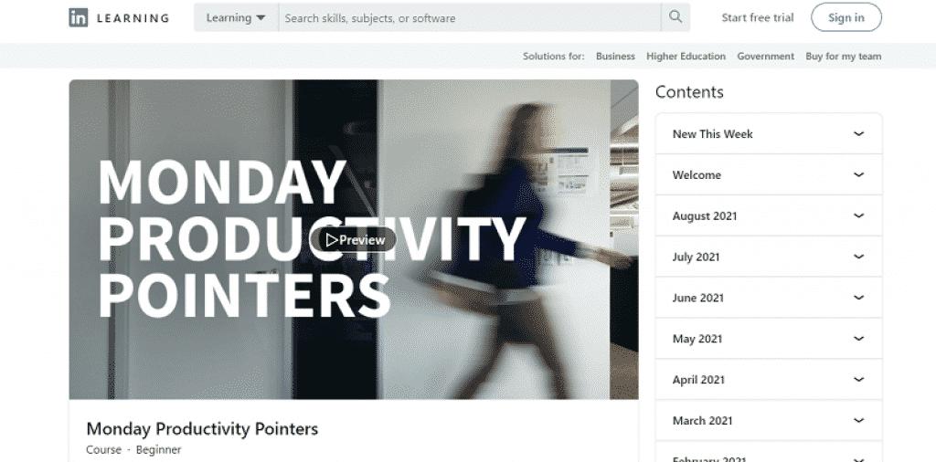 קורס להגברת הפרודוקטיביות של העסק שלכם ב-LinkedIn Learning