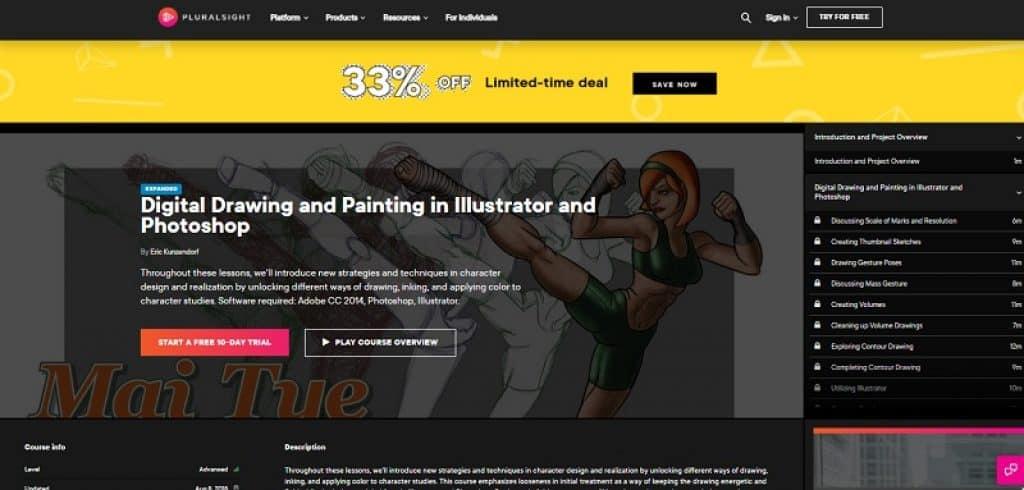 קורס אמנות דיגיטלית מקצועי ב-Pluralsight