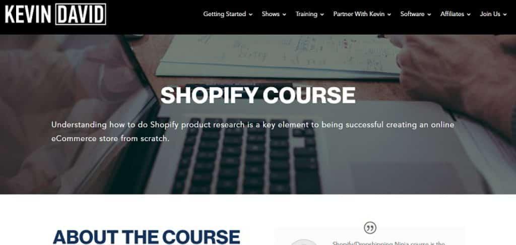 קורס Shopify Dropshipping של קווין דיוויד